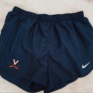 UVA Nike running shorts